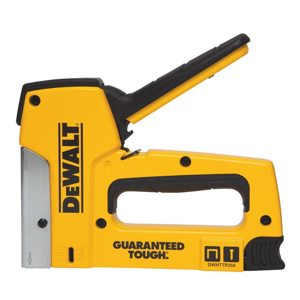 Dewalt 18 Gauge Heavy Duty Staple Nail Gun Dwhttr350 The