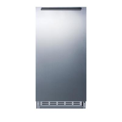 15 in. 12 lb. Built-In Icemaker in Stainless Steel