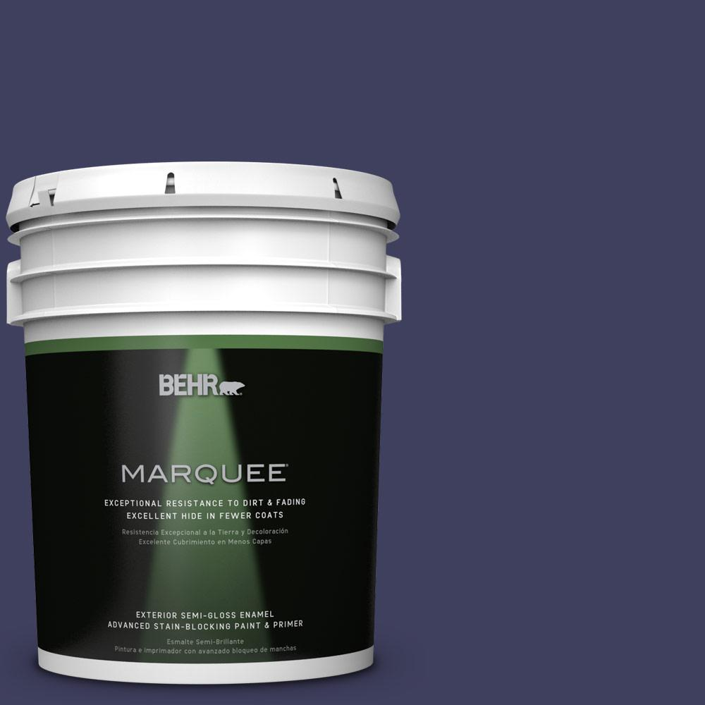 BEHR MARQUEE Home Decorators Collection 5-gal. #HDC-MD-01 Majestic Blue Semi-Gloss Enamel Exterior Paint