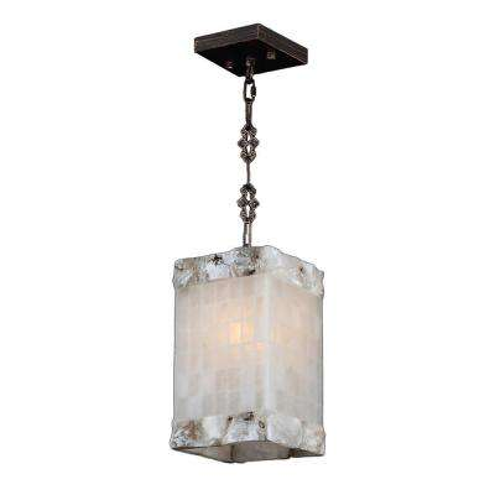Worldwide lighting clearance pendant lights lighting the pompeii 1 light flemish brass natural quartz mini pendant square aloadofball Gallery