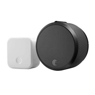 August Smart Lock Pro + Connect, Dark Gray