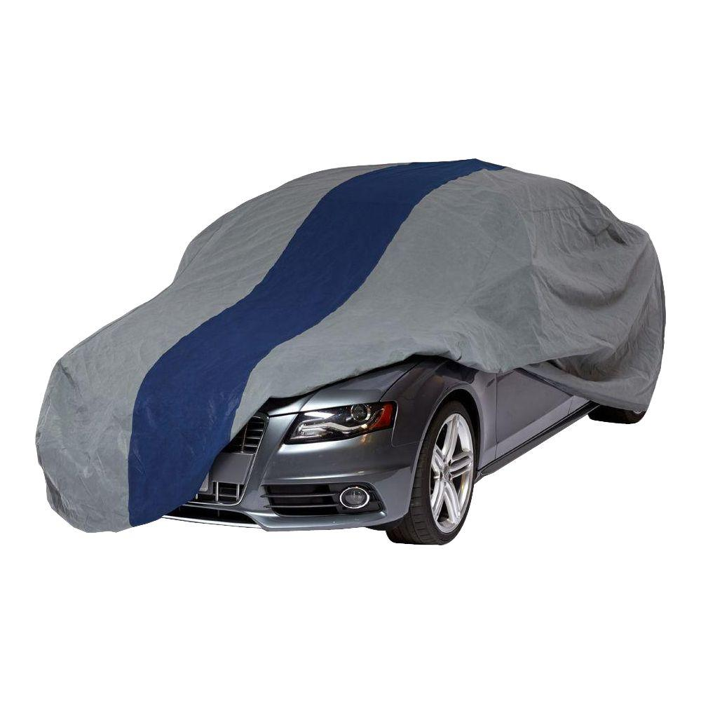 DuckCovers Duck Covers Double Defender Sedan Semi-Custom Car Cover Fits up to 14 ft. 2 in., Gray