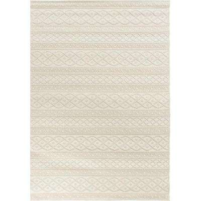 Tied Up Ivory 5 ft. x 8 ft. Indoor/Outdoor Area Rug