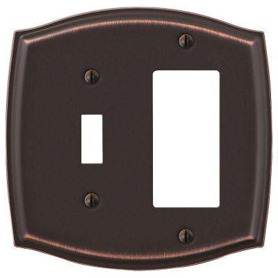 Sonoma 1-Toggle 1 Decora Wall Plate - Aged Bronze
