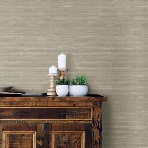 NuWallpaper 30.75 sq. ft. Wheat Grasscloth Peel and Stick Wallpaper by NuWallpaper