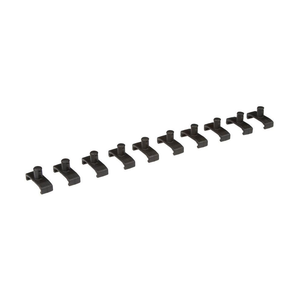 1/4 in. Drive Twist Lock Socket Clip Set (10-Piece)