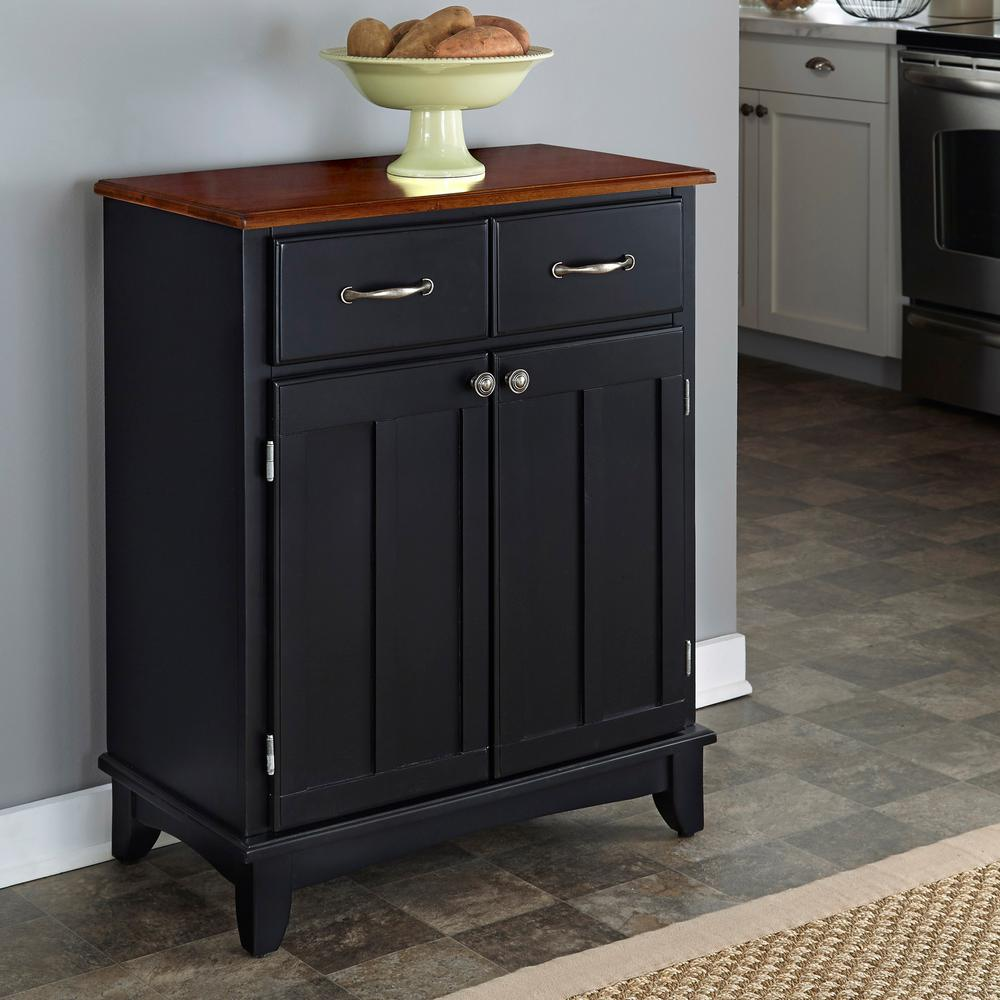 Perfect Black And Cherry Buffet With Storage