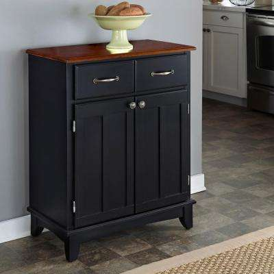 Black and Cherry Buffet with Storage