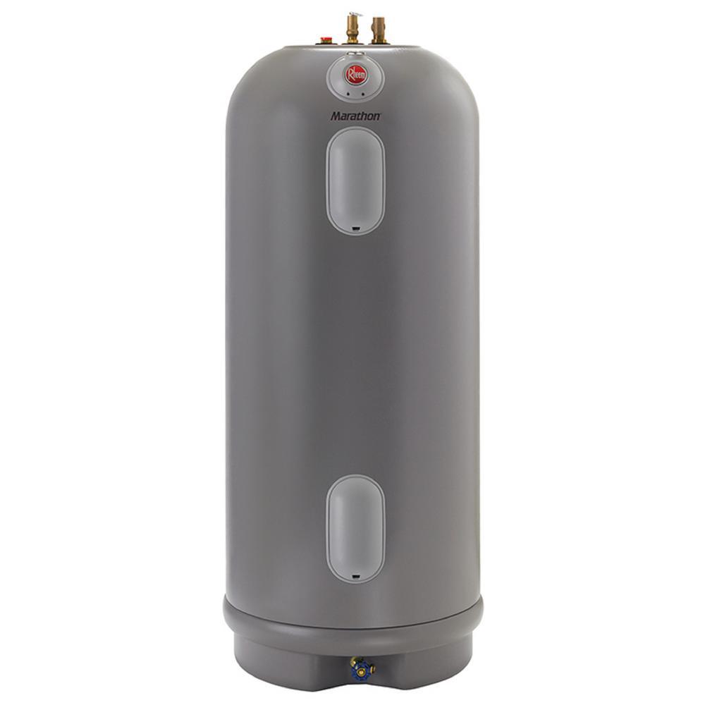 Rheem Marathon 50 Gal Tall 4500 4500 Watt Elements Non Metallic Lifetime Electric Tank Water Heater Mr50245 The Home Depot