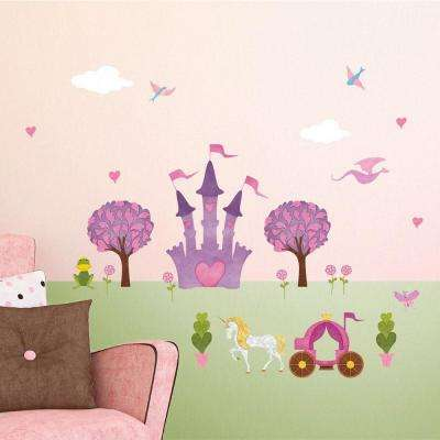 Princess Peel and Stick Removable Wall Decals Princess Theme Mural (23-Piece Set)