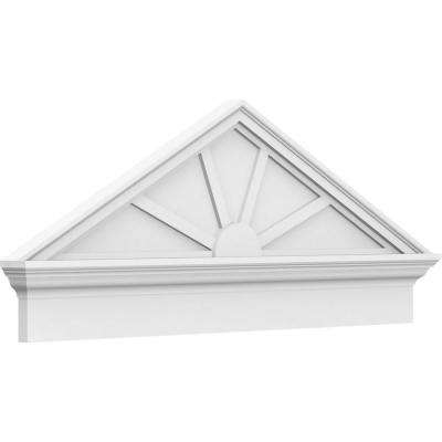 2-3/4 in. x 82 in. x 27-3/8 in. (Pitch 6/12) Peaked Cap 4-Spoke Architectural Grade PVC Combination Pediment Moulding