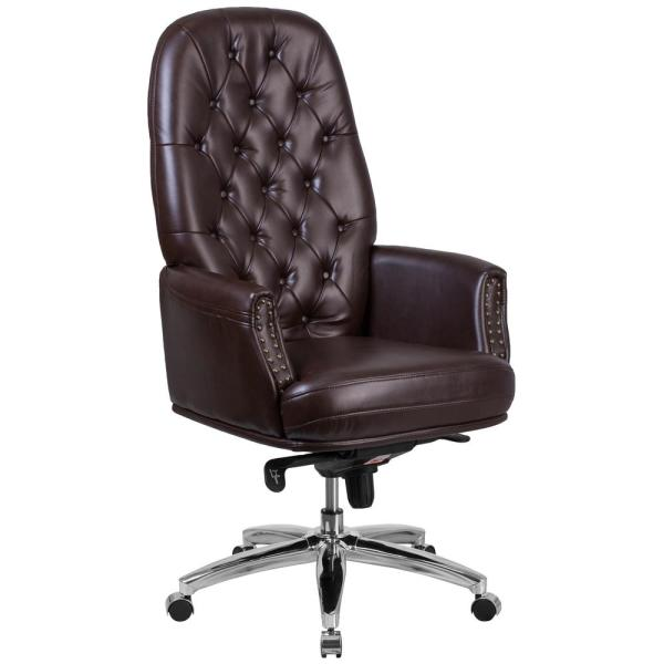Flash Furniture Brown Office Desk Chair Bt90269hbn The Home Depot