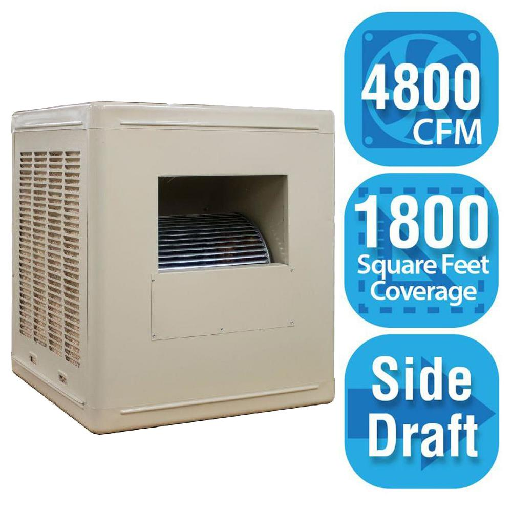 Hessaire 4 800 Cfm Side Draft Aspen Roof Side Evap Cooler Swamp Cooler For 18 In Ducts 1 800 Sq Ft Motor Not
