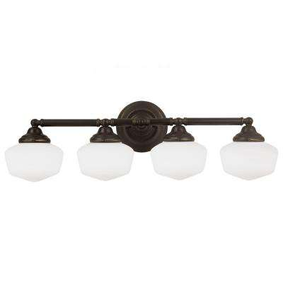Academy 4-Light Heirloom Bronze Wall/Bath Light