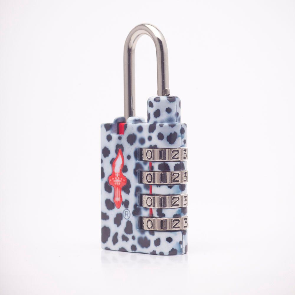 Safe Skies Animalique Boutique 4 Dial TSA Combination Lock - Dalmatian-DISCONTINUED