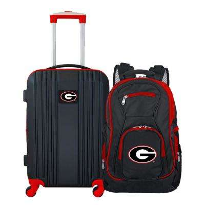 NCAA Georgia Bulldogs 2-Piece Set Luggage and Backpack
