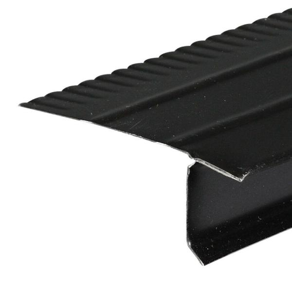 F4 1/2 Black Aluminum Drip Edge Flashing