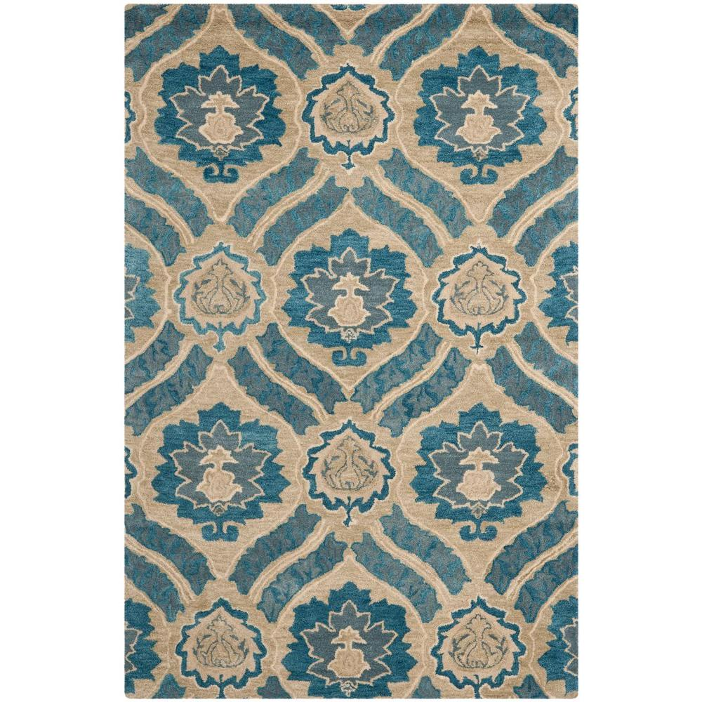 Wyndham Blue/Grey 4 ft. x 6 ft. Area Rug