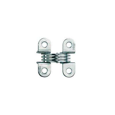 1/2 in. 1-33/64 in. Satin Chrome Invisible Hinge