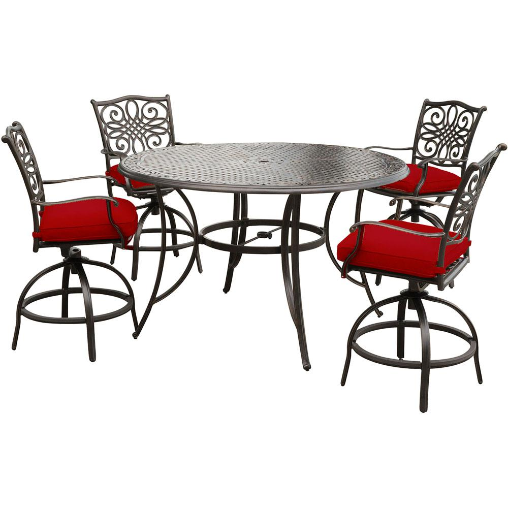 Hanover Traditions 5 Piece Aluminum Outdoor Bar Height