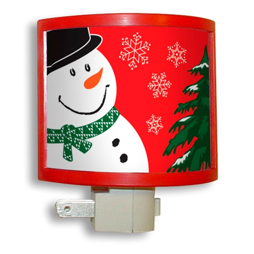 Amerelle Manual Night Light with Snowman Picture Frame
