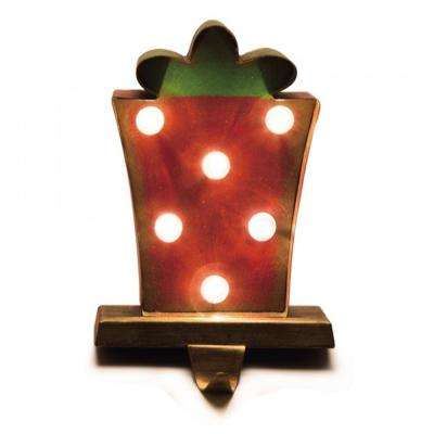 8.48 in. H Marquee LED Gift Box Stocking Holder
