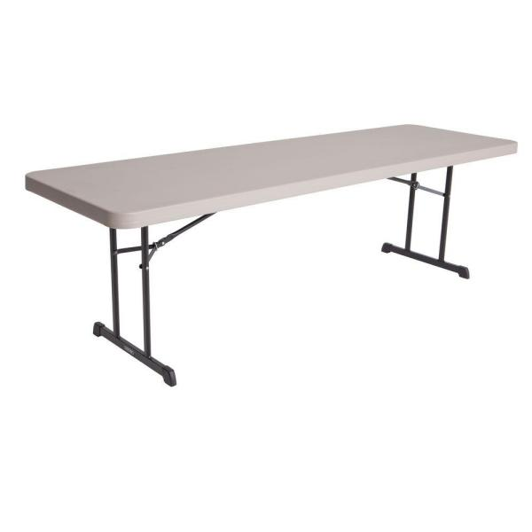 96 in. Putty Plastic Folding Utility Table