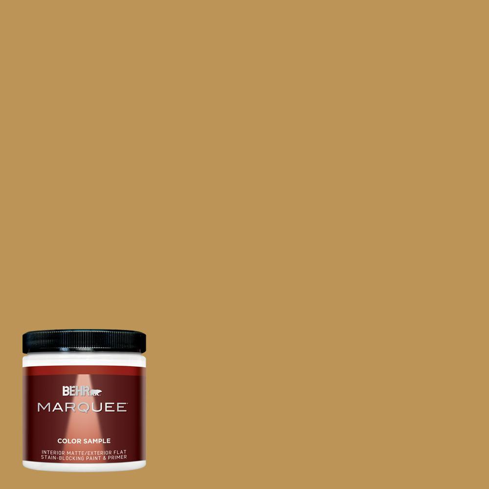 8 oz. #T12-5 Lone Star Matte Interior/Exterior Paint Sample