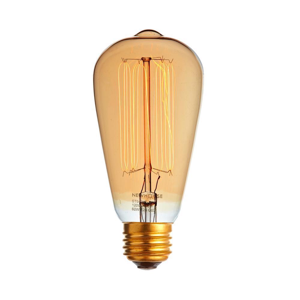 60-Watt Incandescent ST64 Vintage Bulb