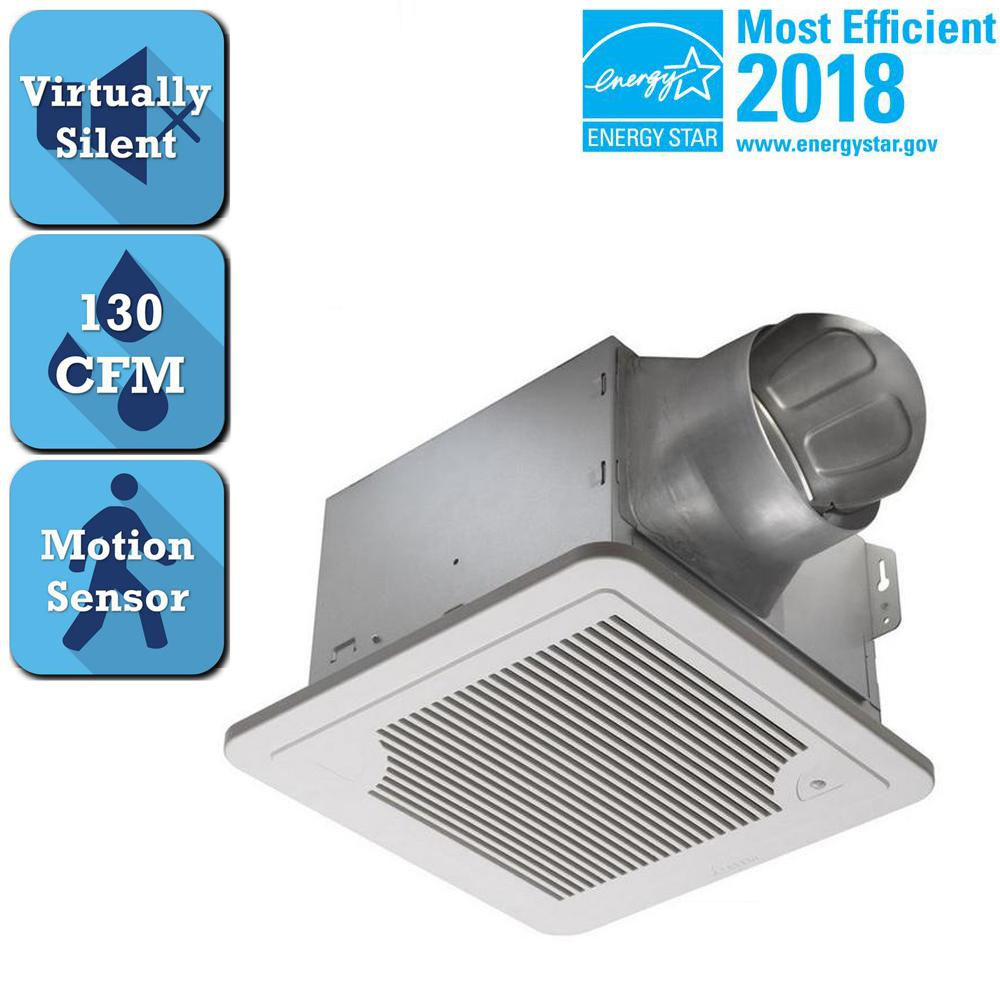 Delta Breez Smart Series 130 CFM Ceiling Bath Exhaust Fan With Motion Sensor And Timer Delay