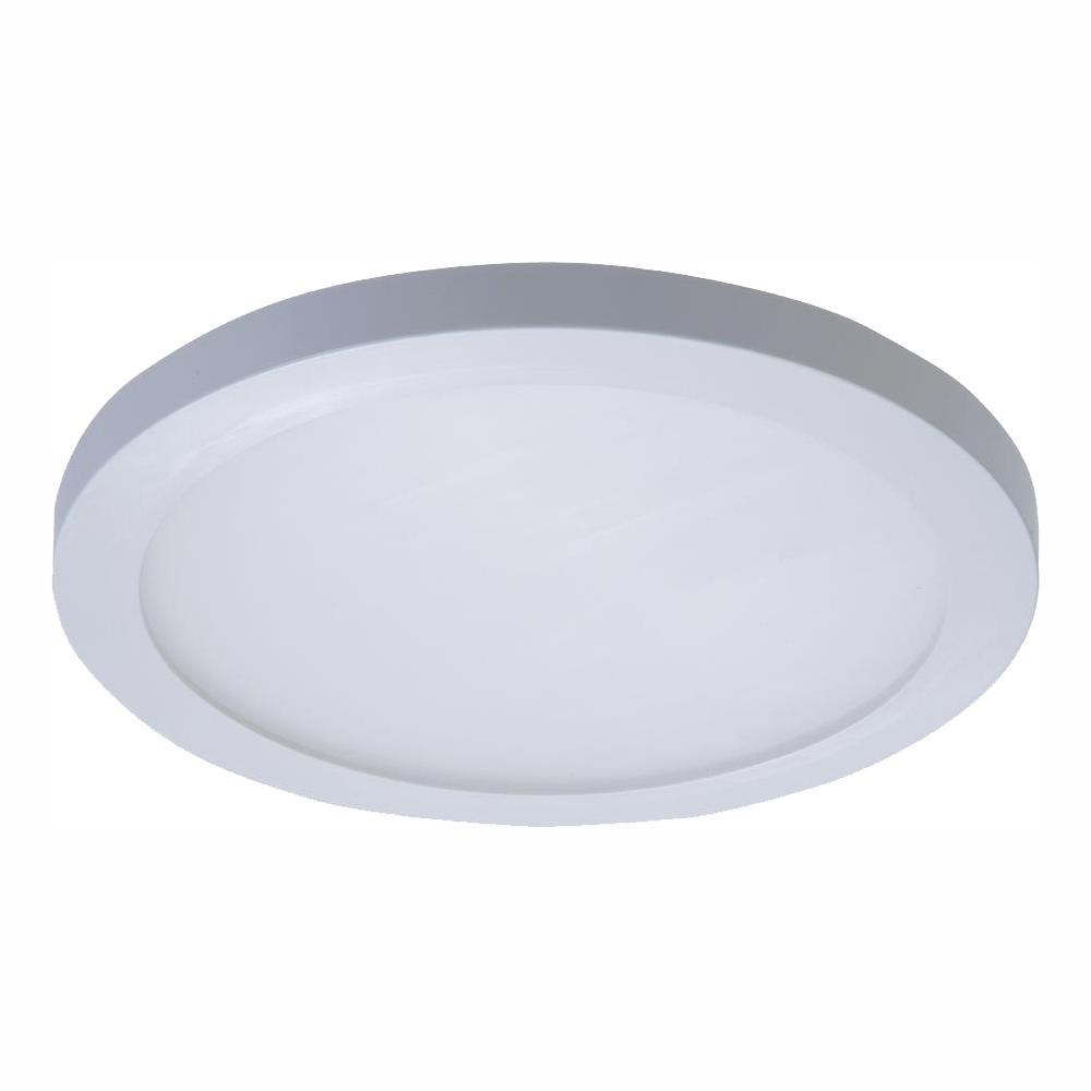 free shipping 153e0 a0d72 Halo SMD 5 in. and 6 in. 5000K Daylight White Integrated LED Recessed Round  Surface Mount Ceiling Light Trim at 90 CRI