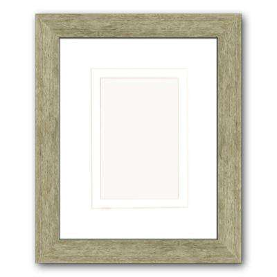 1-Opening 4 in. x 6 in. or 5 in. x 7 in. Matted Champagne Picture Frame (Set of 2)