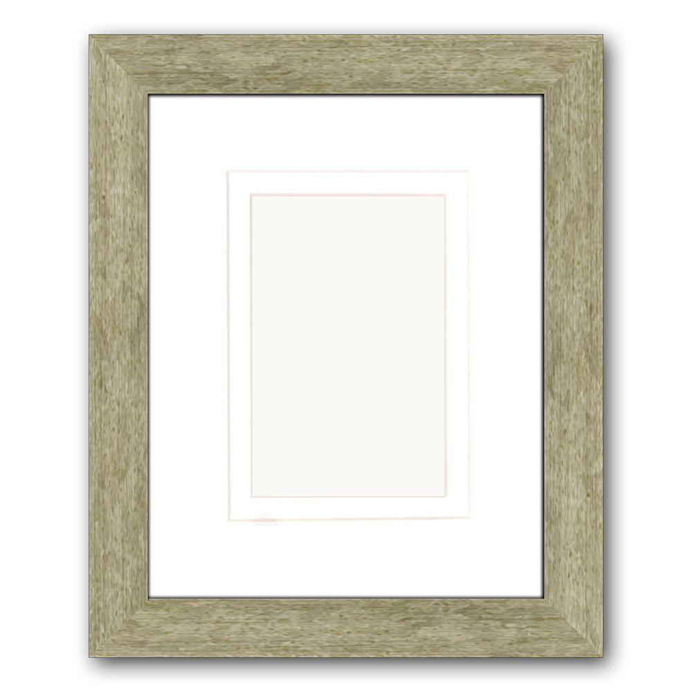 PTM Images 1-Opening 4 in. x 6 in. or 5 in. x 7 in. Matted Champagne Picture Frame (Set of 2)