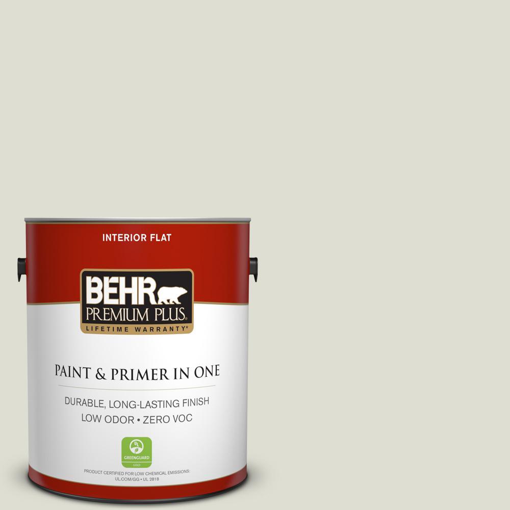 BEHR Premium Plus 1-gal. #BWC-28 Alpine Frost Flat Interior Paint