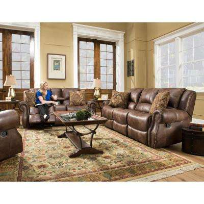 Stratton 3-Piece Chocolate Sofa, Loveseat and Recliner Living Room Set
