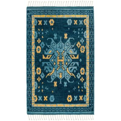 Safavieh Kenya Blue/Gold 6 ft. x 9 ft. Area Rug