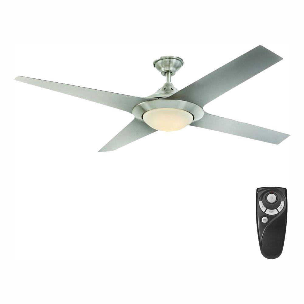 Home Decorators Collection Folsom 60 in. LED Indoor Brushed Nickel Ceiling Fan with Light Kit and Remote Control