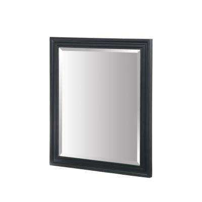 Colorado 30 in. W x 26 in. L Wall Mirror in Black