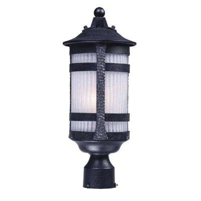 Casa Grande 8 in. Wide 1-Light Outdoor Anthracite Post Light