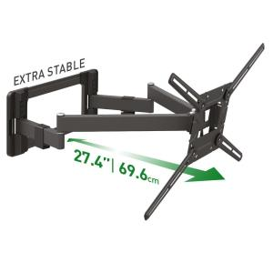 Barkan 40 in. to 90 in. Full Motion - 4 Movement Long Flat /Curved TV Wall Mount, Black, Extremely Extendable, UL Listed