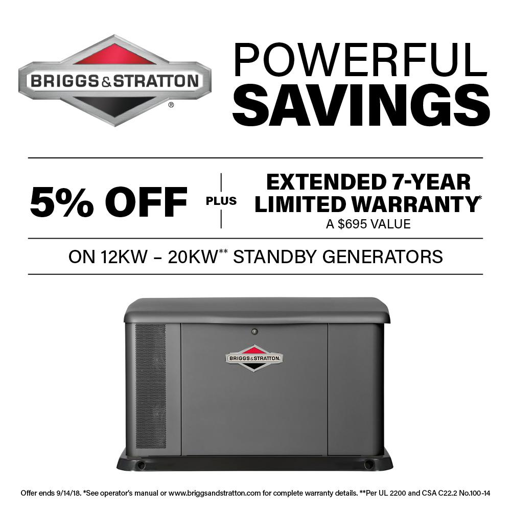 briggs stratton 20 000 watt automatic air cooled standby generator rh homedepot com briggs and stratton 20kw generator installation manual briggs and stratton 20kw generator service manual