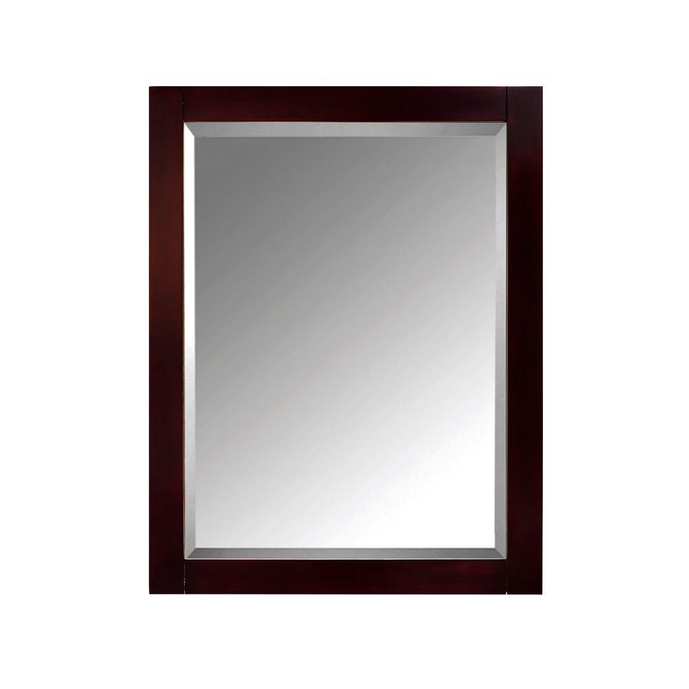 24 in. W x 30 in. H x 5 in. D Framed Surface-Mount 2-Shelf Bathroom Medicine Cabinet in Espresso
