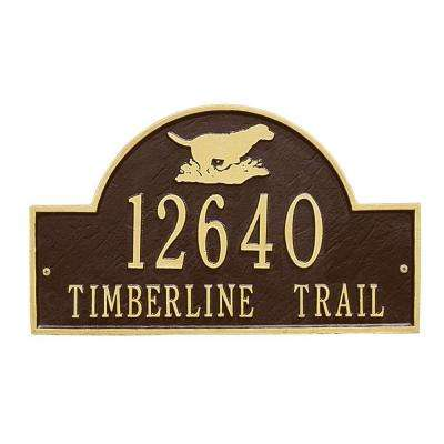 Retriever Arch Bronze/Gold Two Line Wall Marker
