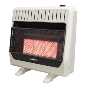 Reddy Heater 30 000 Btu Unvented Infrared Natural Gas Wall With Thermostat And Er Iwh30irngdc The Home Depot