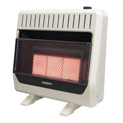 30,000 BTU Unvented Infrared Natural Gas Wall Heater with Thermostat and Blower