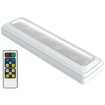 LED White Wireless Under Cabinet Light with Remote