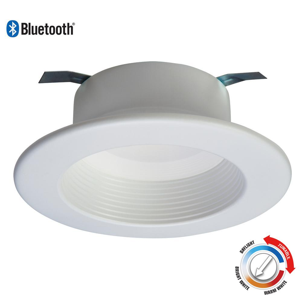 White Bluetooth Smart Integrated Led Recessed Ceiling Light Trim Tunable