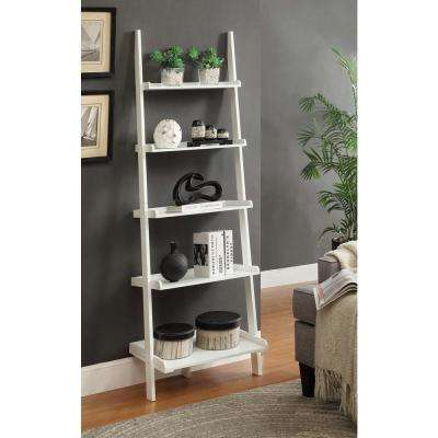 French Country White 5 Shelf Bookcase