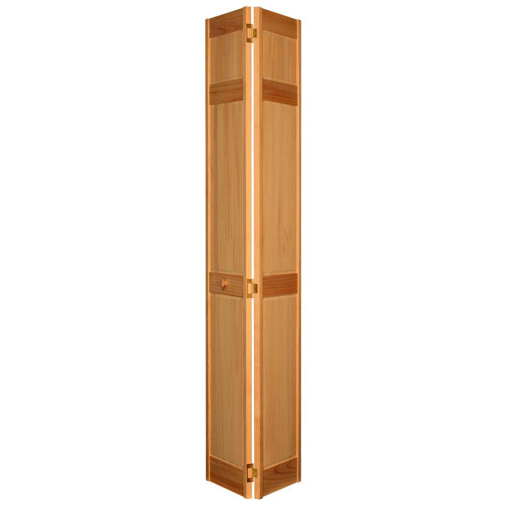 24 in. x 80 in. 6-Panel Maple PVC Composite Interior Bi-fold Door
