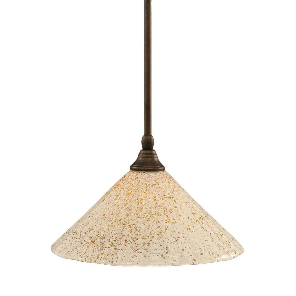 Concord 1-Light Bronze Incandescent Ceiling Pendant